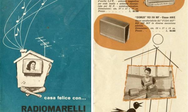 UN RADIOELETTRODOMESTICO: RADIOMARELLI DOMUS RD191 E PIERLUIGI SPADOLINI