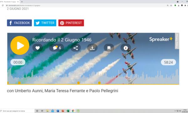 RICORDANDO ALLA RADIO IL 2 GIUGNO 1946